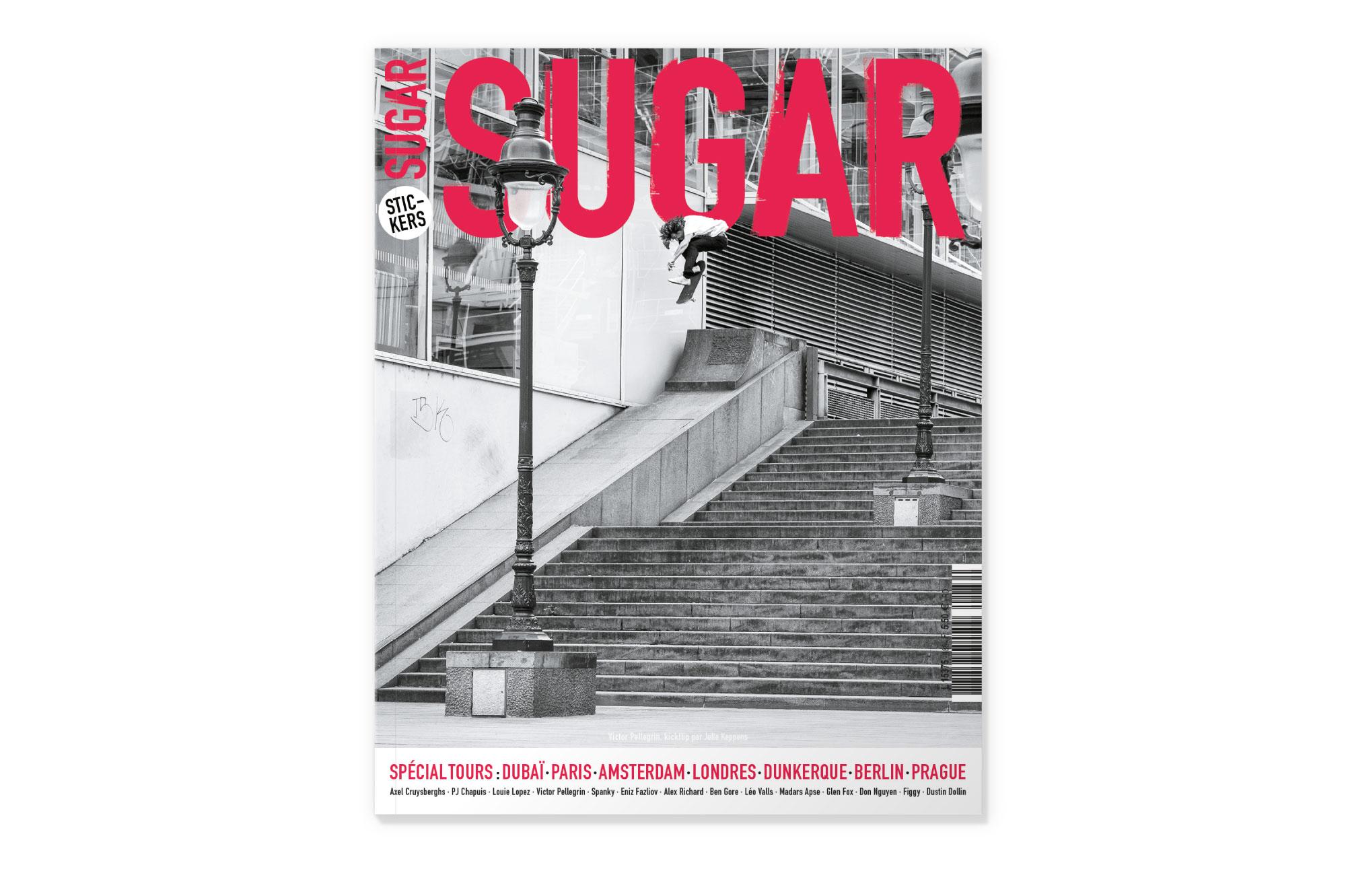 couverture Sugar skateboard magazine 186 spécial tours