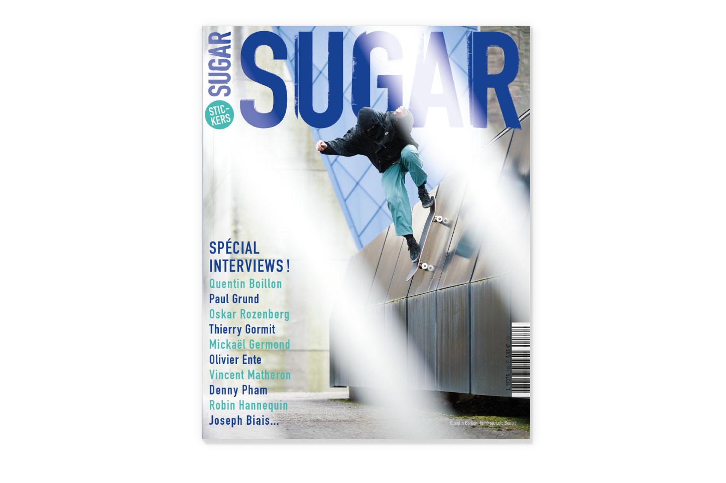 couverture Sugar skateboard magazine 188